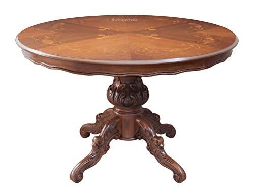 Arteferretto Table Ronde marquetée 120 cm diamètre