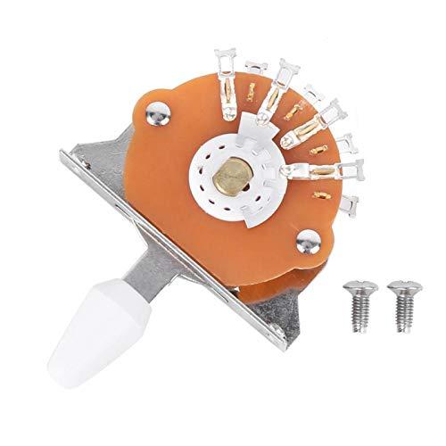 Jenngaoo Interruptor Selector de Pastilla de 5 Vías, Interruptor de Selección de...