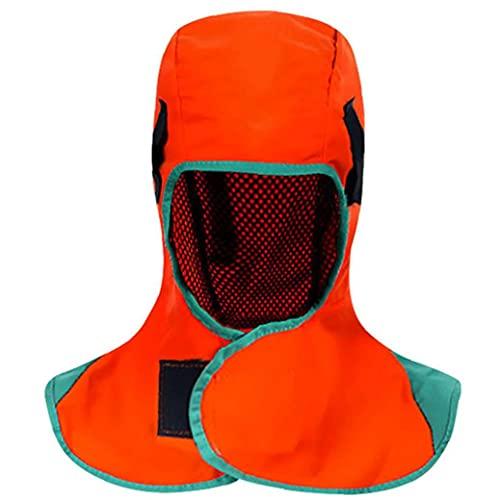 Sraeriot Soldando Hood Soldador Cuello Protección Resistente Al Calor Cuello Cuadrado De Hombro Para Cascos De Soldadura Herramientas De Potencia Naranja, Herramientas De Soldadura Electrónica Mantón