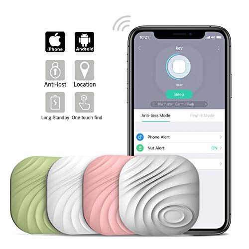 Nutale Nut3 Key Finder Locator (Pack of 4) – Smart Bluetooth Item Tracker & Finder Device for Wallet, Phone, Dogs, Cats - Anti-Lost Bidirectional Alarm Reminder - Replaceable Battery - Multicolor