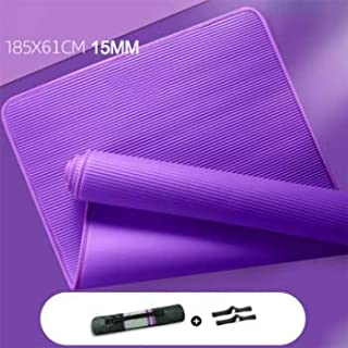 Yoga Mats - 15MM Yoga Mat NRB Non-slip Mats For Fitness Extra Thick Pilates Gym Exercise Pads Carpet Mat with Bandages Yog...