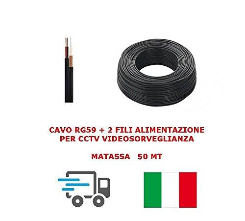 madeja Cable de vídeo Coaxial RG59+ 2Cables de alimentación, 0.58mm CCTV X cámaras de videovigilancia de alta calidad Profesional