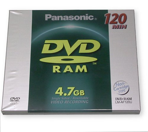 Panasonic Single DVD-RAM (LM-AF120U) (Discontinued by Manufacturer)