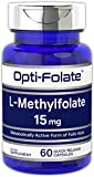 L Methylfolate 15mg | 60 Capsules | Max Potency | Optimized and Activated | Non-GMO, Gluten Free | Methyl Folate, 5-MTHF | by Opti-Folate