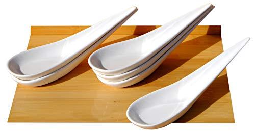 Canapé cuillère Arrow poignée LONG X 6 blanc