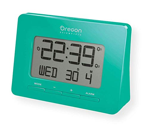 Oregon Scientific RM938 Gray Dual Alarm Atomic Time and Calendar with Snooze