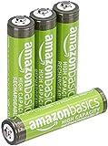 AmazonBasics Piles rechargeables AAA haute capacité, pré-chargées - Lot de 4 (le visuel peut différer)