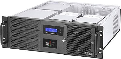 RealPower RPS19-G3380 - 48,3 cm (19 Zoll) Server-Gehäuse ohne Netzteil (ATX, LCD-Bildschirm, 2X 5,25 Externe, 3X 3,5 interne, 2X USB 3.0) schwarz