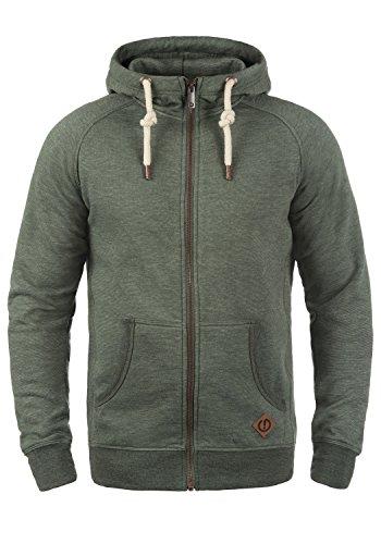 !Solid Vitu Herren Sweatjacke Kapuzenjacke Hoodie mit Kapuze und Reißverschluss, Größe:M, Farbe:Climb Ivy Melange (8785)