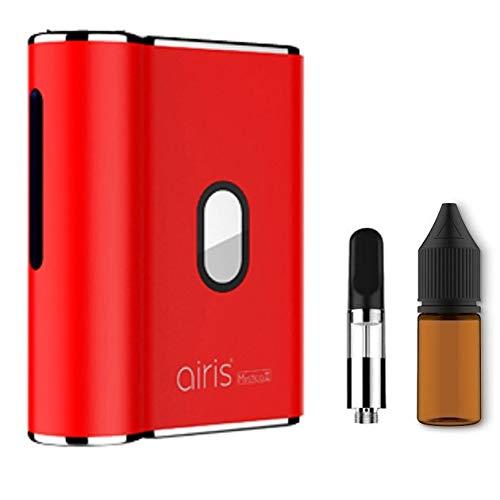 電子タバコ Airistech Mystica�U エアリステック ミスティカ ヴェポライザー プレゼント品として交換用アトマイザー リキッド用ボトル付き スターターキット 510スレッド (Red)