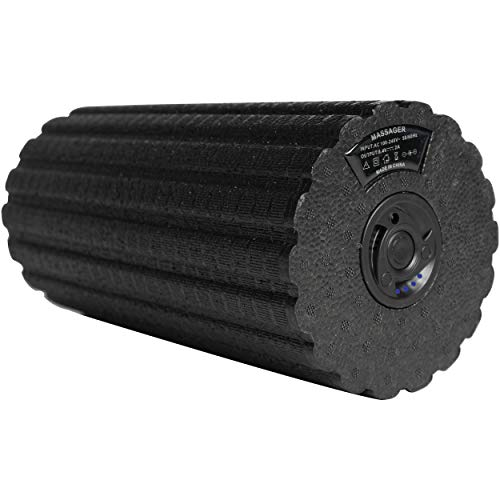 Flyby Vibrating Foam Roller Massager for Muscle Recovery, Physical Therapy & Exercise, Yoga, Deep Tissue, Stretching Back, Body, Leg Travel Friendly