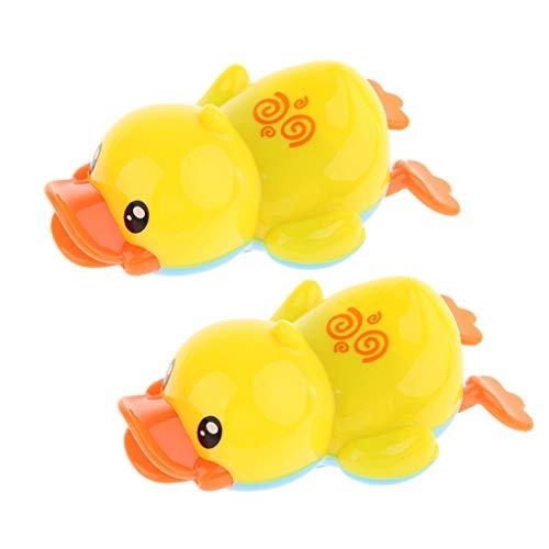 2 Piezas Lindo Viento para Nadar Pato Amarillo Niños Bebé Tiempo de Baño Juguete de Agua