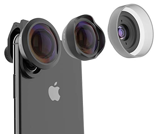 PuzzleK Phone Camera Lens Kit 3 in 1, 15X HD Macro, 120° Wide Angle, 238° Fisheye, Compatible on iPhone 11 X XR 8 7 6, Samsung Galaxy, Pixel and OnePlus