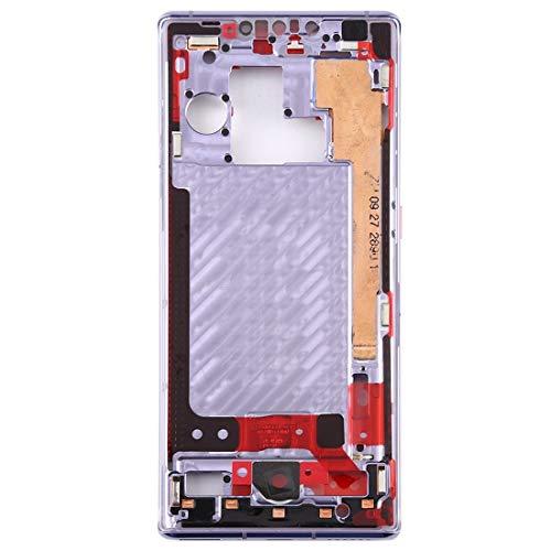 BEIJING  SCREENCOVER+ / Placa del Bisel del Marco Medio para Huawei Mate 30 Pro, Reemplazo LCD Placa Placa ATRÁS BIELEL (Color : Silver)
