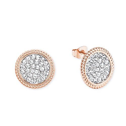 NOELANI runde Damen-Ohrringe rosévergoldet mit Kristallen von Swarovski