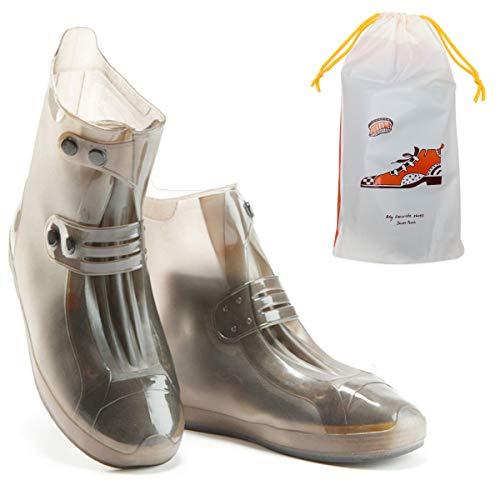 Coolrunner Rain Shoes Boots Covers Overshoes Galoshes Travel for Men Women Kids (Brown, XXXL(Women 13-14, Men 10-11))