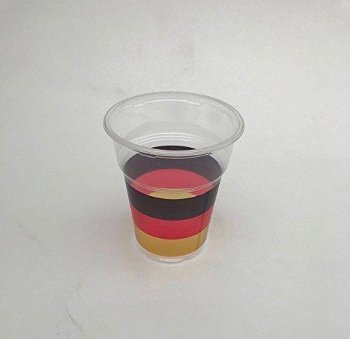 OL-Gastro-benodigdheden 1000 drinkbeker PP plastic beker transparant 300ml met Duitse vlag WK 2018