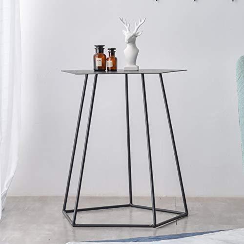 table basse Nordic Home côté canapé Polygon Iron art Table de téléphone Table d'angle (Couleur : A)