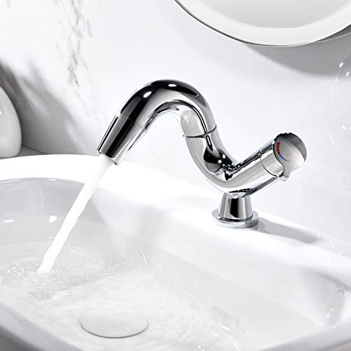 Aimadi Design Mischbatterie Bad Wasserhahn Badarmatur Waschtischarmatur Waschbeckenarmatur Waschbecken Badezimmer Chrom - 3