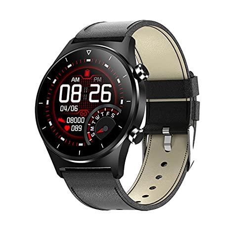 YWS Die Neue E13 Smart Watch, Uhr Unterstützt Telefonanrufnachrichten GPS Bluetooth 5.0 Anschluss wasserdichte Android-IOS-Telefone,A