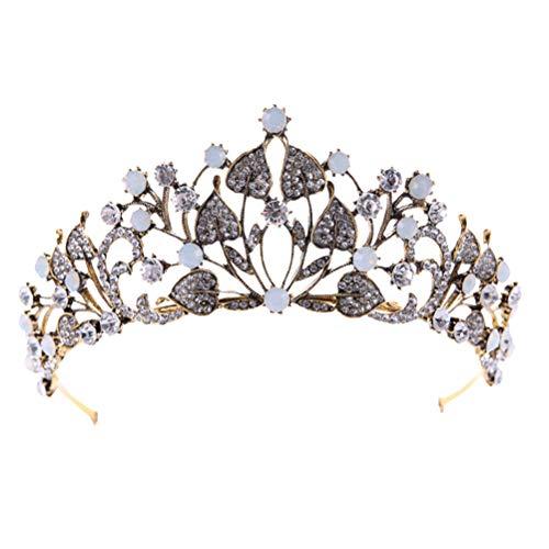 Beaupretty Braut Tiara Kristall Strass Crown Stirnband Prinzessin Kopfschmuck Hochzeitskleid Zubehör (HG075)