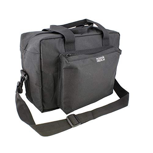 MonMed Black Medical Bag - Nurse Accessories Nursing School Supplies, Medical Equipment Bag, Nurse Bag in Black Nylon