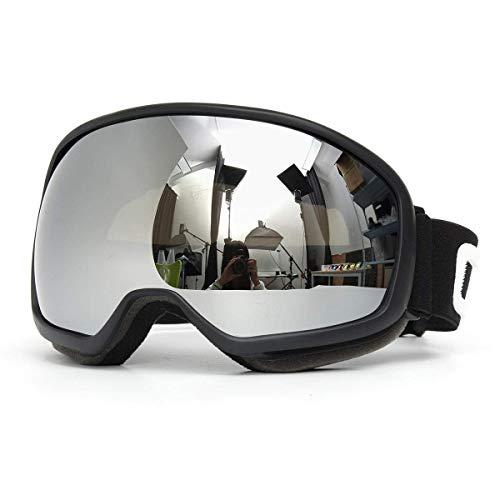 OutingStarcase. Snowmobile Skibrille Doppel-Objektiv Anti-Fog UV Snowboard Schneesport Schwarz Motorradteile Motorrad-Werkzeug