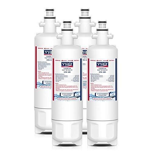 Vyair VYR-32D Reemplazo cartucho filtro de agua de la nevera para Beko 9256712, 487960200, 4346650401, 4874960100, 4877880200, GNE13260X, GNE134590X, Blomberg KFD9952PXDUK, Lamona HJA6110, LAM6100 (4)