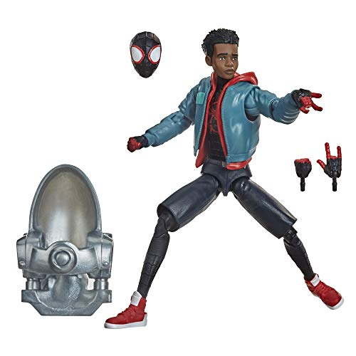 Hasbro Marvel Legends Series Spider-Man: Into the Spider-Verse Miles Morales 6-inch Collectible Action Figure Toy and 3 Accessories