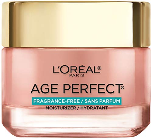 Face Moisturizer By L'Oreal Paris Skin Care I Age Perfect Rosy Tone Fragrance Free Moisturizer for Visibly Younger looking skin I Anti-Aging Day Cream I 2.55 Oz