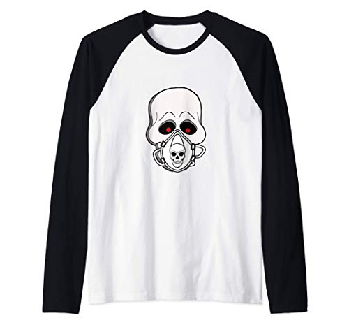 Los cráneos llevan máscaras Camiseta Manga Raglan