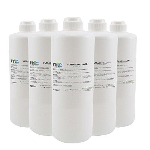 Ultraschall Gel - 5x 1kg Flaschen, Kontaktgel 5 kg, Leitgel, Übertragungsgel