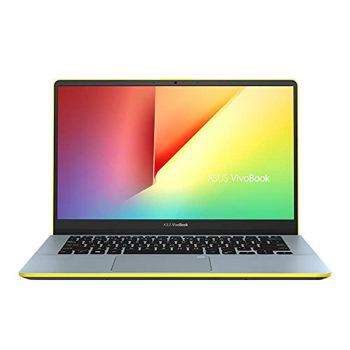 ASUS VivoBook S14 S430UN 90NB0J43-M00630 Notebook (35,6 cm, 14 Zoll, FHD, Matt, Intel Core i7-8550U, 12GB RAM, 256GB SSD, 1TB HDD, NVIDIA MX150 (2GB), Windows 10 Home) silver blue yellow,