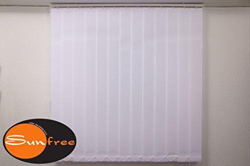 sunfree Vertikal Lamellen Vorhang Farbe weiss Breite 100 cm Höhe 250 cm