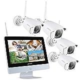 8CH Système de Caméra Sécurité Sans fil,ANNKE 1080P Kit de WiFi Vidéosurveillance No HDD avec l'écran LCD 12'' et...