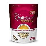 Fruitables Greek Yogurt Treats for Dogs   Strawberry Yogurt Flavor with an Oatmeal Crunch   7 Ounces, Model Number: 2560