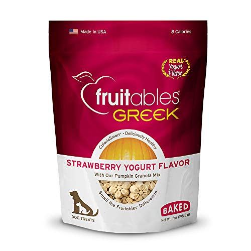 Fruitables Greek Yogurt Treats for Dogs | Strawberry Yogurt Flavor with an Oatmeal Crunch | 7 Ounces, Model Number: 2560