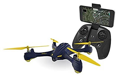 XciteRC 15030650 Hubsan X4 Star Pro FPV Quadcopter – RTF Drone with HD Camera, GPS, Follow Me, Waypoints, Coming Home, Battery, Charger and Remote Control, Navy Blue from Hubsan