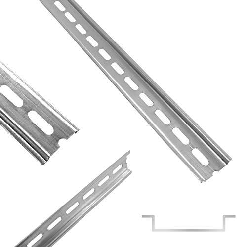 ARLI Hutschiene 35 x 7,5 x 200 mm gelocht Stahl verzinkt für Verteilerschrank Schaltschrank einbau DIN-Hutschiene Montageschiene Tragschiene profilschine 1 Stück Schiene