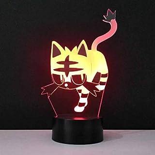 Led 3D Usb Cat Night Light New Interesante Lovely Tiger Shape 7 Colores Change Bedroom Table Lamp Home Decor Lighting Travel Gift