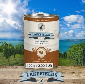 Lakefields Dosenfleisch-Menü Huhn für ausgewachsene Hunde