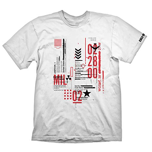 """Call of Duty: Cold War T-Shirt """"Defcon-1"""" White Size L"""