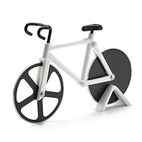 SFANK Pizzaschneider für Rennräder, Küchenwerkzeug, Edelstahl weiß