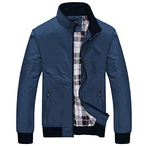 BaZhaHei 2019 Neue Herren Winter Freizeit Reißverschluss Herbst Weisereine Farben Patchwork Jacken Outwear Mantel Übergangsjacke Herrenjacke Regenjacke Steppjacke