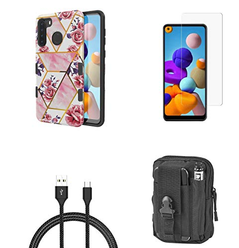 Bemz Case Bundle for Samsung Galaxy A21: TUFF Grip Dual Layer Hybrid...