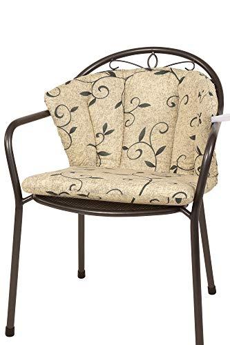 Kettler Polen KETTtex 2222 Auflage für Royal Garden MWH Sessel Elegance Natur Ranke Sitzpolster (ohne Stuhl)