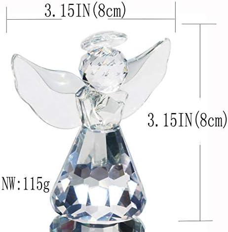 Clear glass angel figurines _image2