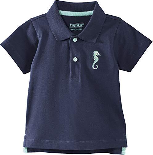 Golden Lutz® Baby Jungen Poloshirt, Kurzarm (Navy Seepferdchen, Gr. 74/80), 100% Baumwolle