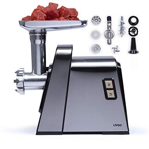 Picadora de carne eléctrica discos de acero inoxidable con accesorio para hacer galletas – Máquina para embutir salchichas con accesorio de embudo – Accesorio para Keppe y galletas