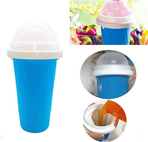 Chagoo Magic Slushy Maker Squeeze Cup Slushy Maker, DIY Tazas de batido caseras Taza de helado para regalo de niños (Azul)